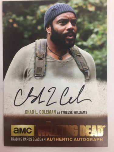 Walking Dead Season 4 PART 1 Chad L. Coleman Tyreese GOLD AUTOGRAPH CLC1