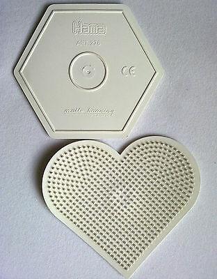 072 Formen Hama Art.276 Art.233 Malte Haaning Plastic Reine WeißE Perlen Bügelperlen