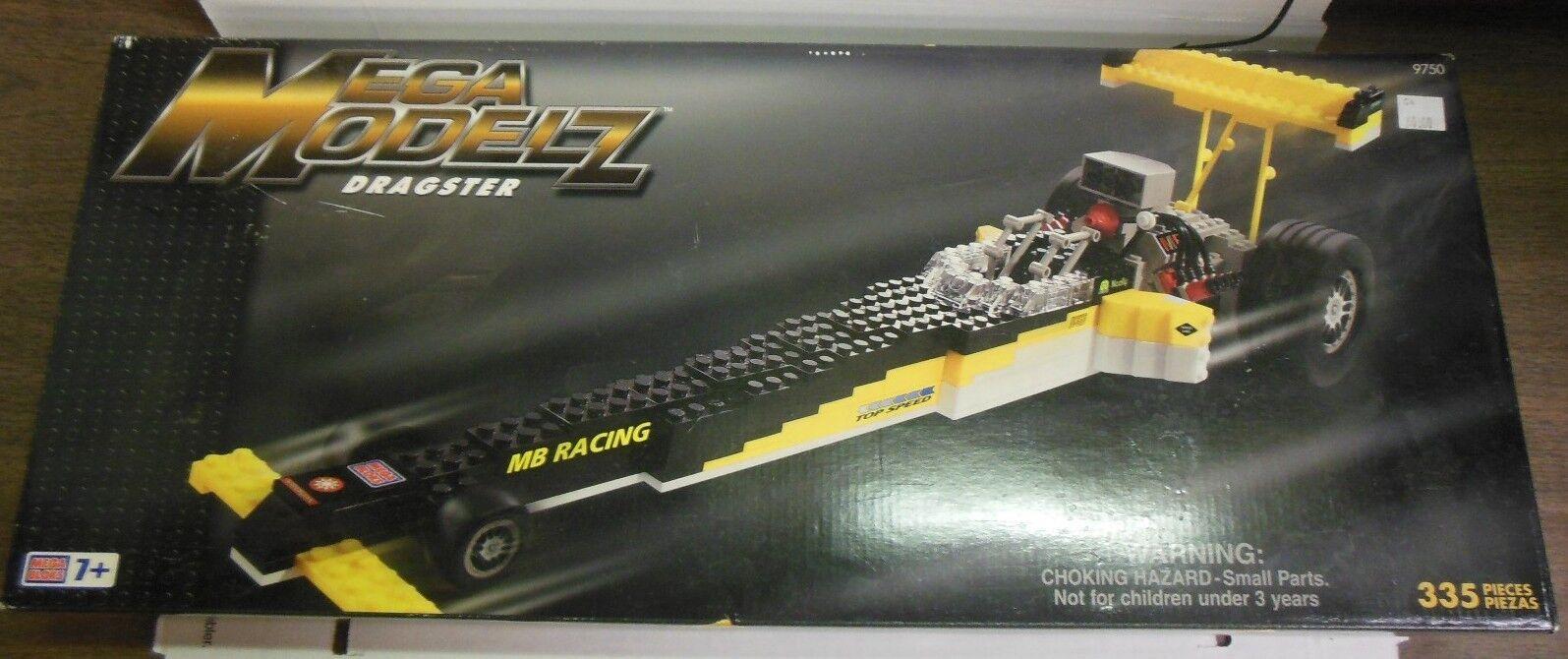 Mega Mega Mega Bloks Mega Modelz Dragster Kit, NIB, 335 Pieces 9750 d39e2f