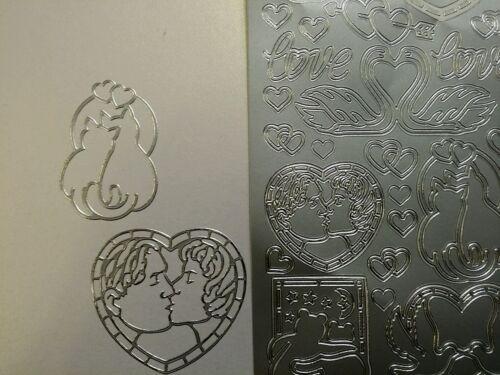 Sticker Arc argent Nº 800 Saint-Valentin Love amour