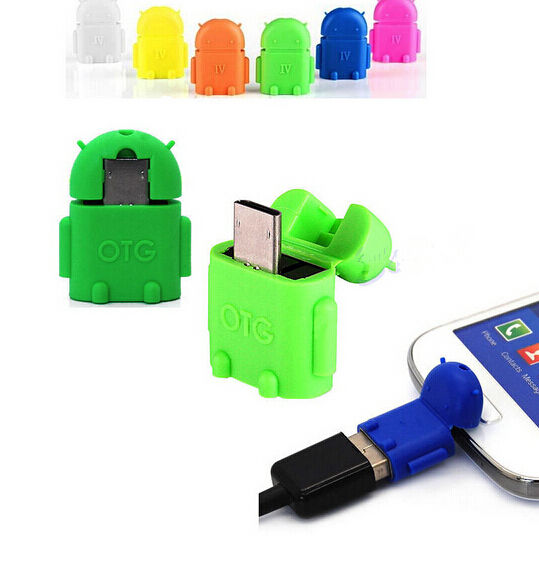 TR99 Robot Micro USB To USB 2.0 OTG Adapter Converter For Android Phone Tablet