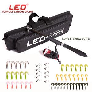 Telescopic-Fishing-Spinning-Rod-Reel-Combos-Kit-42-Lures-10-Hook-Storage-Bag-Set