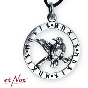 Echt-etNox-Odins-Raben-Anhaenger-925er-Silber-Symbol-Schmuck-NEU