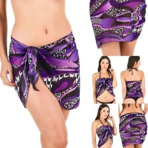 dc71aaa7e94 Coqueta BATHING SUIT Chiffon Cover up Beach Sarong skirt Swimsuit ...