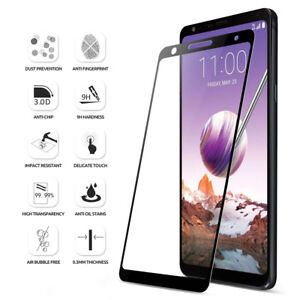 buy popular bc21b 75f46 Details about Poetic Case Friendly Premium Tempered Glass Screen Protector  for LG Stylo 4 BLK
