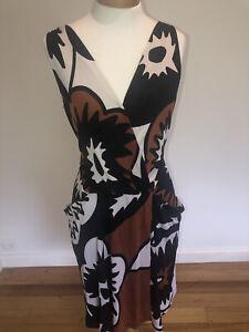 DVF Diane Von Furstenberg Silk Dress Size AU 10