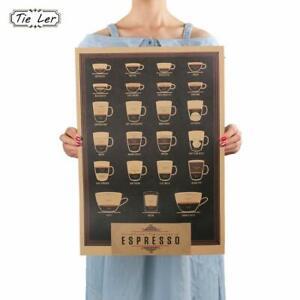 Italien-Kaffee-Espresso-Passenden-Diagramm-Papier-Poster-Bild-Cafe-wandtattoo
