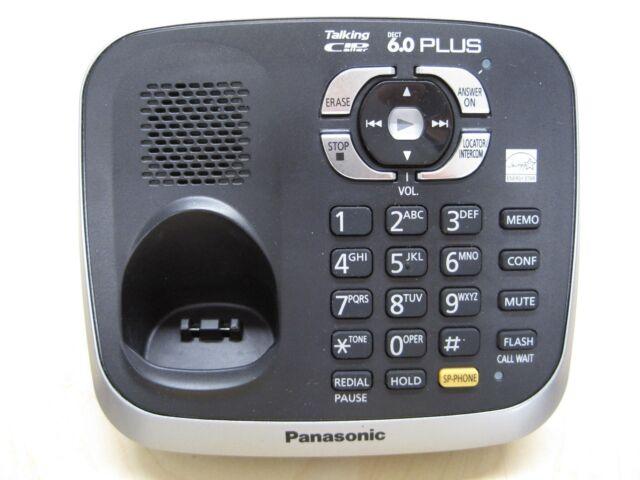 Panasonic KX-TG6541 DECT 6.0 Plus Single Line Cordless Phone Main Base