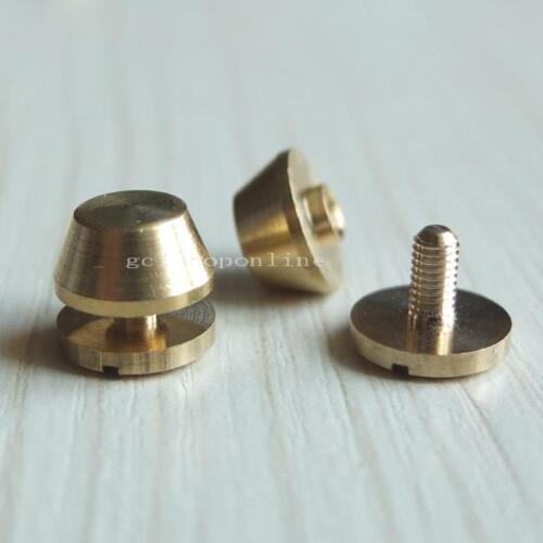 Screwback Feet 10 11 12mm Screw Head Purse Handbag NAILHEADS Stud Spike Spot UK