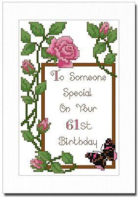 Joyeux 40th Anniversaire Cross Stitch Carte Kit