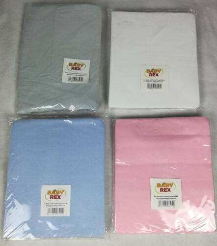 Premium Quality 100/% Cotton 2 x Travel Cot Fitted Sheets 95 x 65-104 x 71