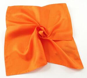 Seiden-Halstuch-Nickituch-100-hochwertige-Twill-Seide-55x55cm-Orange-10233