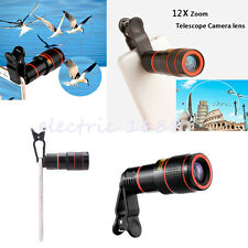 12x Optical Zoom HD Telescope Telephoto Camera Lens Clip on For Various Phones