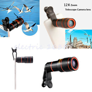 12x-Optical-Zoom-HD-Telescope-Telephoto-Camera-Lens-Clip-on-For-Various-Phones