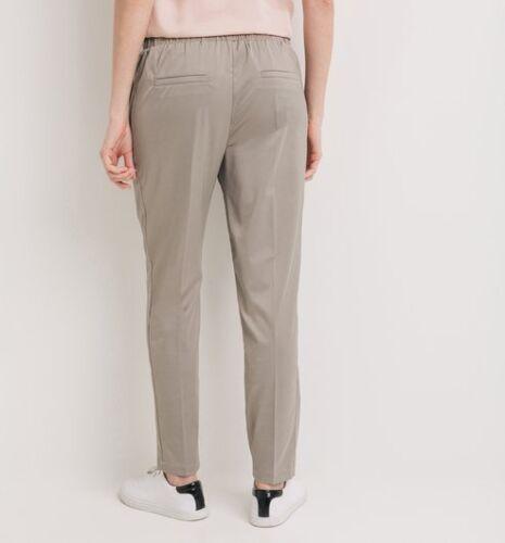 Promod Womens Tapered Satin Pants Trousers Size 14 BNWT Grey Uk Freepost