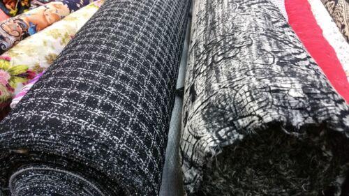 """Con Textura estiramiento jersey comprobado Guinga//Zigzag impresión//60/"""" de ancho de tela artesanal Nuevo"""