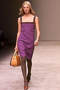 Vintage Prada White Label Color Block Shift Dress 42 IT 4-6 US Sixties Mod