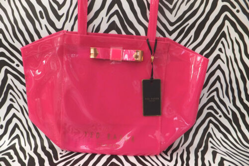Ted Shoppers Bow Ikon Trapeze Baker Ladies New Bright Bag Pink Azra Tote Handbag DHE29IW