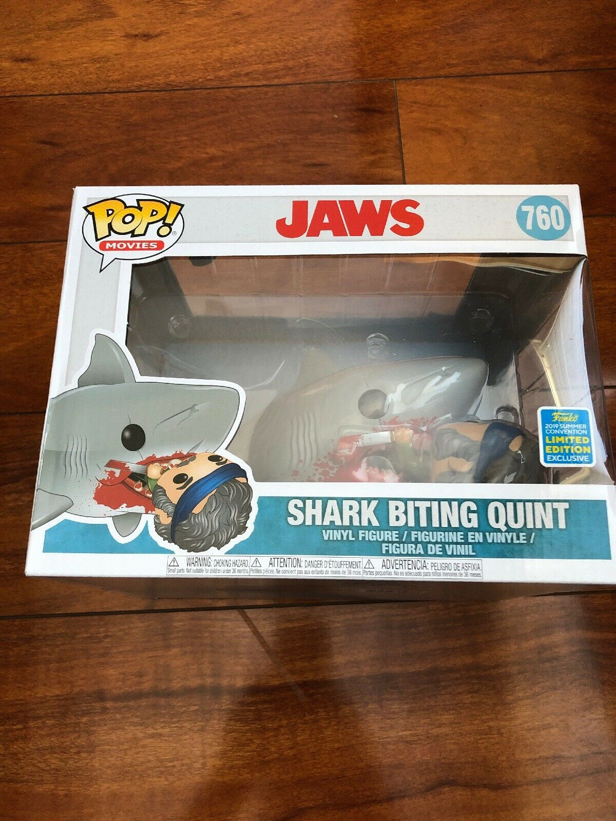 2019 SDCC Exclusive Jaws Eating Quint Deluxe Funko Pop Vinyl Figure SOLD OUT