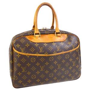 LOUIS-VUITTON-DEAUVILLE-BUSINESS-HAND-BAG-PURSE-MONOGRAM-CANVAS-M47270-A54638