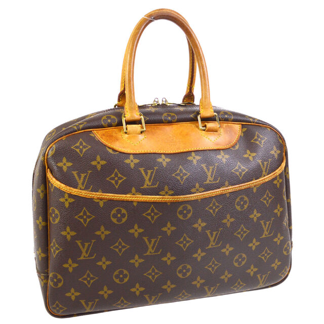 LOUIS VUITTON DEAUVILLE BUSINESS HAND BAG PURSE MONOGRAM CANVAS M47270 A54638