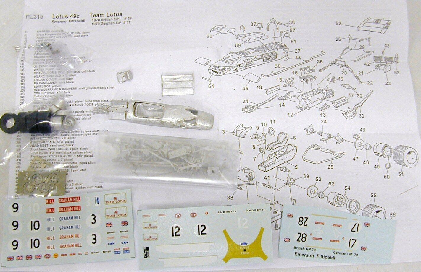 1 43 RL31EK LOTUS 49C Emerson Fittipaldi KIT BY SMTS