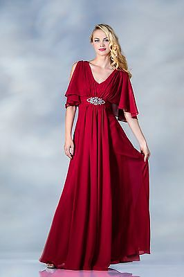Elegant Beautiful Chiffon Long Mother Of The Bride Groom Formal Event Dress Gown