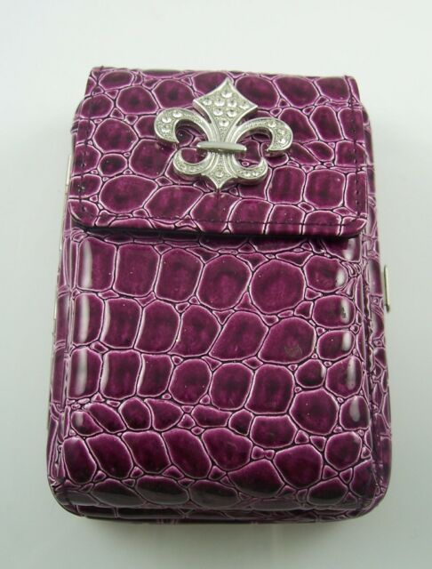Purple Fleur di lys Wallet credit cards id clutch phone