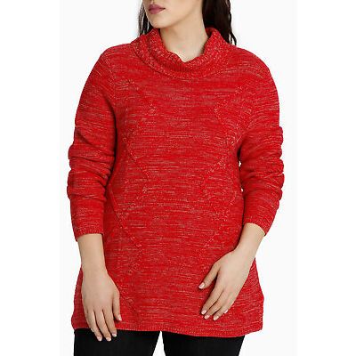 NEW Yarra Trail Woman Twin Cable Jumper Red