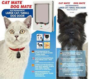 Dog mate cat mate electromagnetic large cat door small dog door ebay image is loading dog mate cat mate electromagnetic large cat door eventshaper