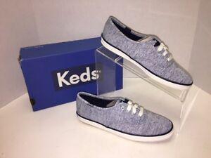 2ba43784351639 NEW KEDS Womens Sz 6 M Champion Jersey Blue Casual Shoes w  Box