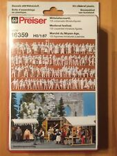 Preiser 16359 HO 1:87; Mittelaltermarkt , NEU & OVP