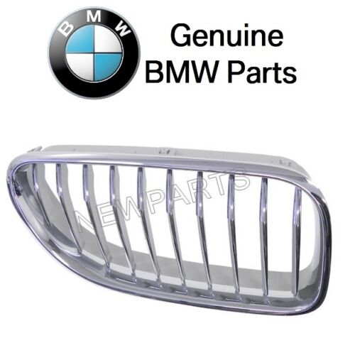 For BMW F06 F12 F13 6-Series Front Passenger Right Chrome Grille OES 51137212852