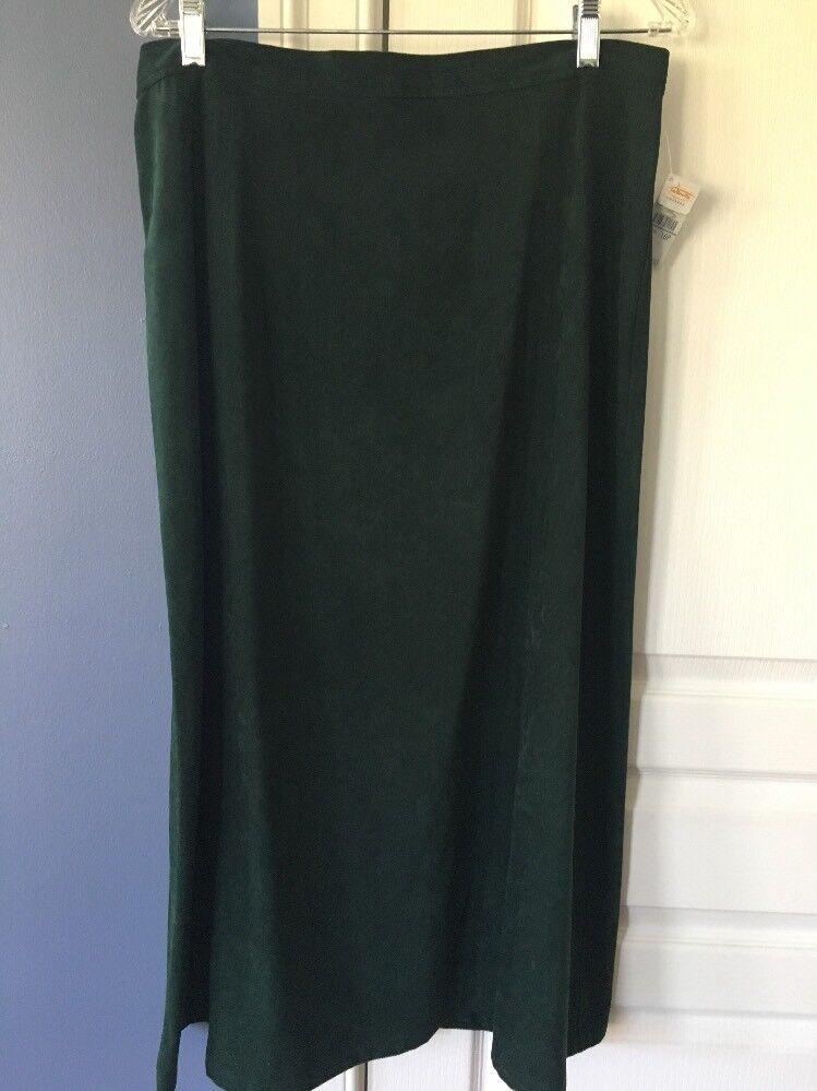 Women's Skirt Green NWT Petite 16 Talbots