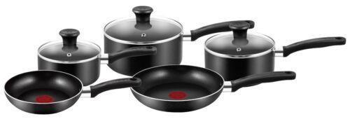 Negro TEFAL conjuntos de 5 piezas de utensilios de cocina Cacerola Antiadherente Ollas y Sartenes Set