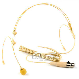 Dual-ear-hook-Headset-Head-Microphone-for-Shure-Wireless-XLR-4pin-Mini-TA4F-Plug