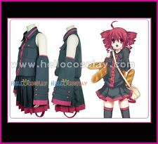 Vocaloid Cosplay Costume Teto Kasane Black Uniform Dress Tailor Made Cotton Ver
