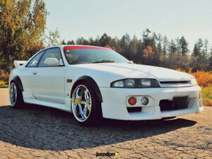 """Fender Flares for Nissan Skyline R33 wide body kit Arch Extensions 2.0""""+3.5"""" set"""