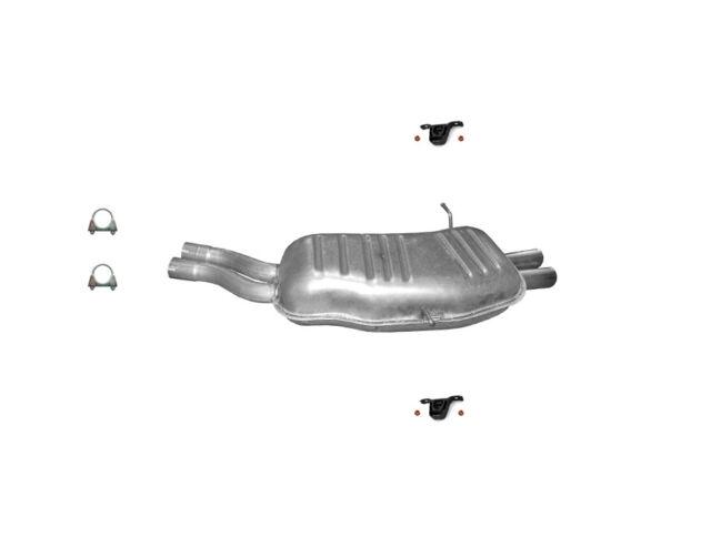 BMW 3 E46 320 325 330 Endschalldämpfer Auspuff Endtopf + Montagesatz