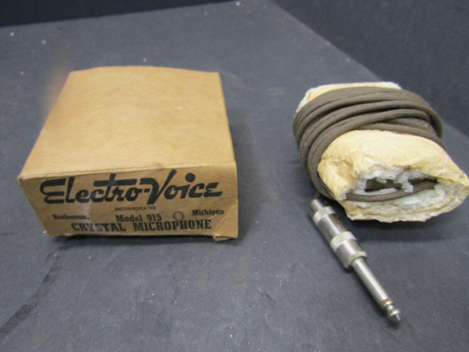 NIB Vintage Electro Voice Model 915 Crystal Microphone Buchanan Mi gan