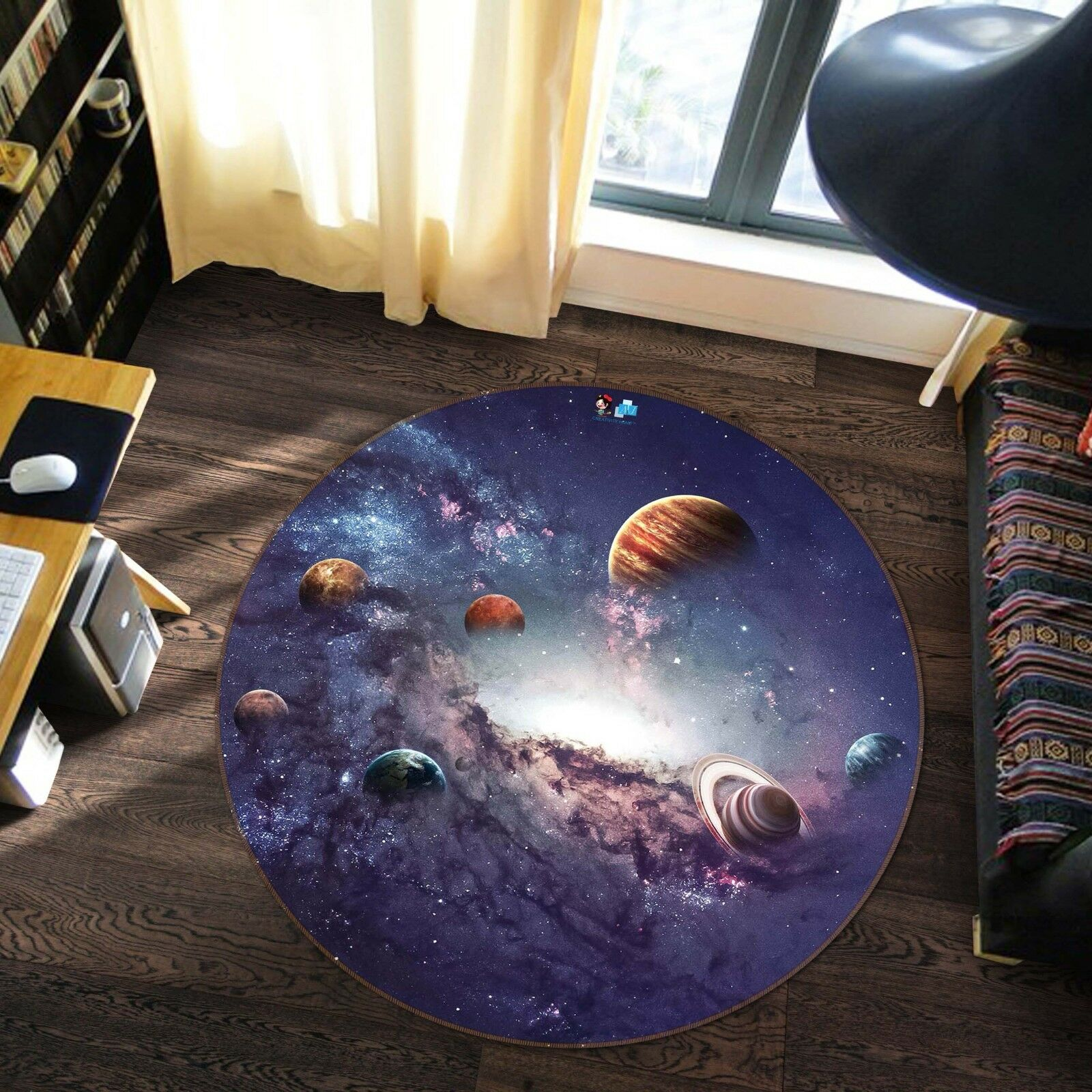 3D Cosmic Sky 64 Non Slip Rug Mat Room Mat Round Elegant Photo Carpet US Summer