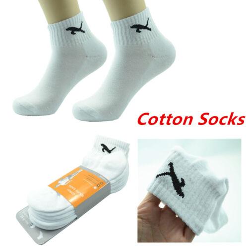 Leopard Mens 12 Pairs Ankle//Quarter Crew Socks Cotton Low Cut Size 9-11 10-13