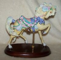 Lenox Carousel Horse 1989 Pretty in Pink Roses