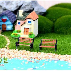 mini figuren miniatur bank sitze harz handwerk ornament f r garten dekoration ebay. Black Bedroom Furniture Sets. Home Design Ideas