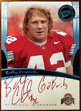 2006 Press Pass Legends Autographs Bobby Carpenter Auto Go Bucks Inscription /25