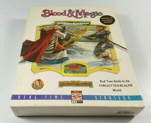 Advanced-Dungeons-amp-Dragons-Blood-amp-Magic-AD-amp-D-PC-Big-Box-Spiel-OVP-CIB-dt-Ver
