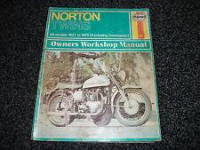 NORTON  TWINS HAYNES WORK SHOP MANUAL 1957 TO 1970 EXCLUDING COMMANDO