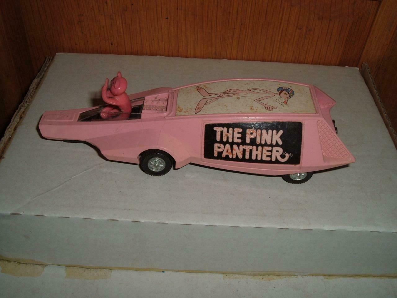 DINKY MECCANO ENGLAND ENGLAND ENGLAND - PLASTIC PINK PANTHER WITH FIGURE - IN USED VINTAGE 8ab8bd