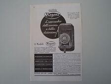 advertising Pubblicità 1936 KODAK REGENT