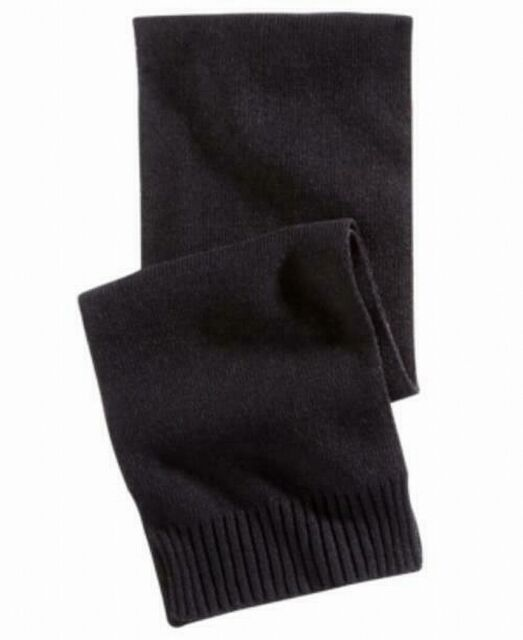 Alfani Mens Accessories Classic Black One Size Ribbed Knitted Scarf $40 #213